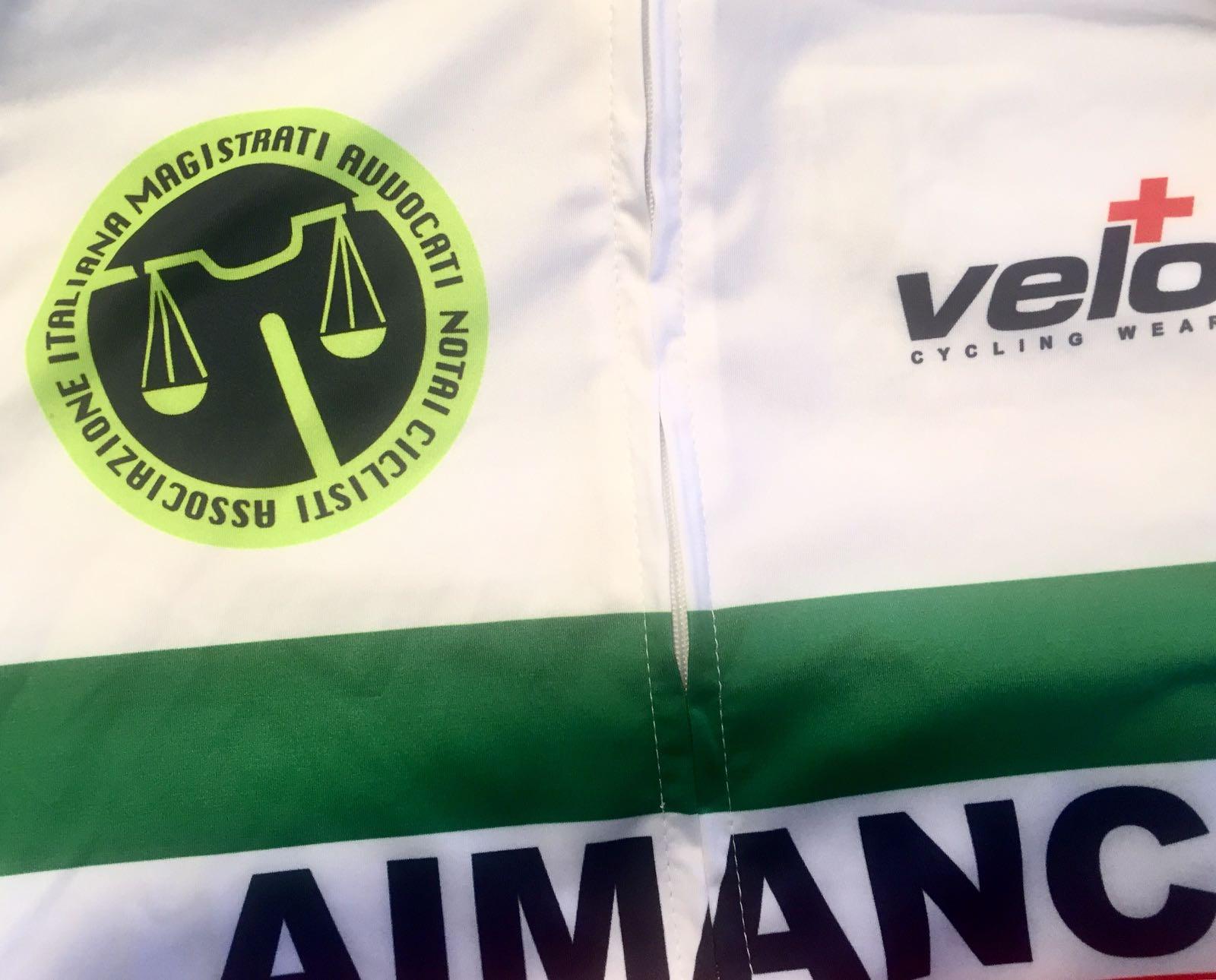 Dettaglio della maglia Aimanc (Associazione Italiana Magistrati Avvocati Notai Ciclisti) - Vincenzo Donativi Campione italiano Aimanc 2018