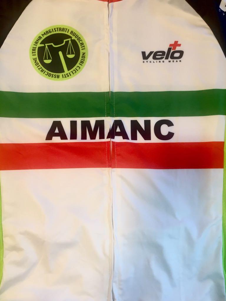 Maglia Aimanc con tricolore - Vincenzo Donativi Campione italiano Aimanc 2018
