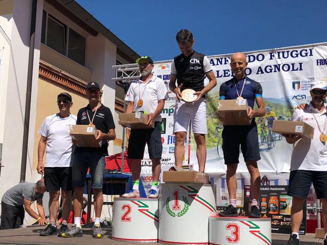 Vincenzo Donativi sul podio del Gran Fondo città di Fiuggi