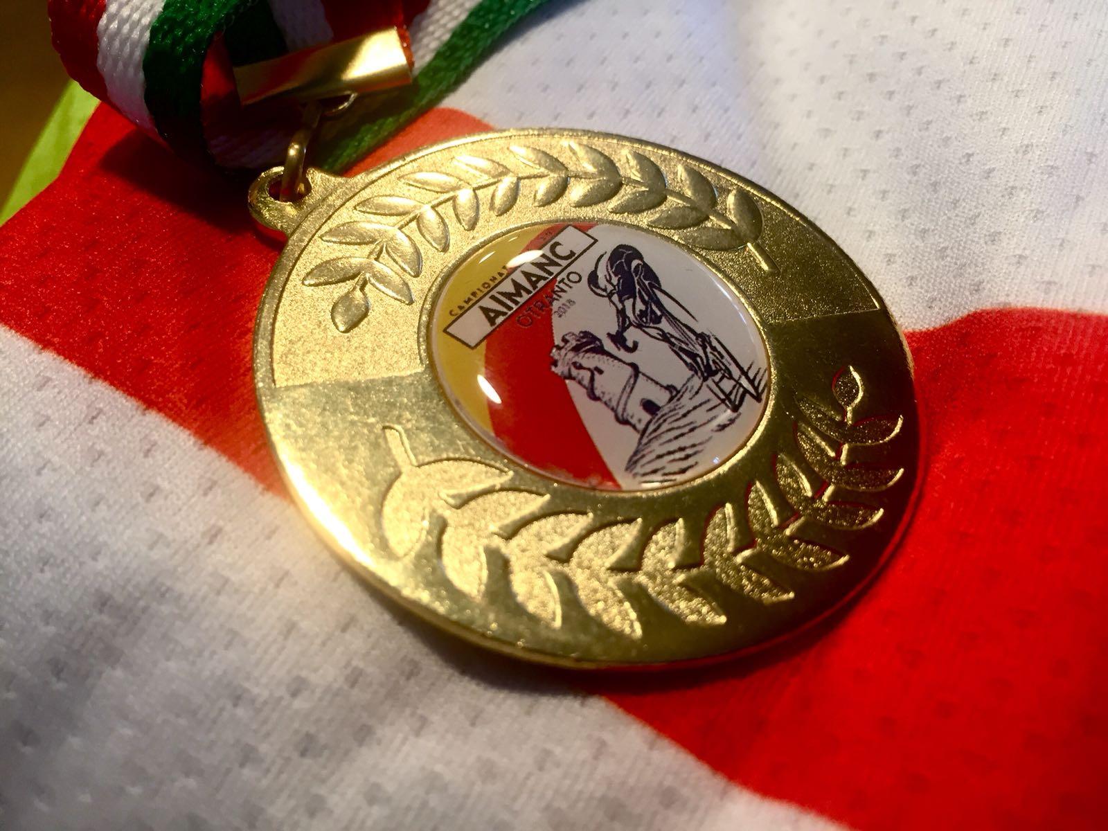 Medaglia Aimanc - Vincenzo Donativi Campione italiano Aimanc 2018